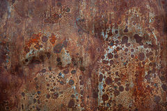 Rusty  tin abstract metal background Royalty Free Stock Images