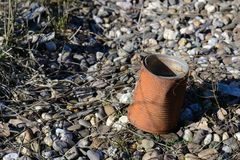 Rusty tin can. Rusty garbage in the nature Stock Images