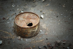 Rusty tin can Royalty Free Stock Image