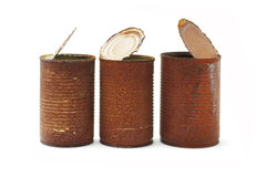 Rusty tin cans Stock Photos