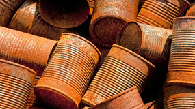 Rusty Tin Cans Royalty Free Stock Photography