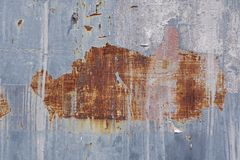 Rusty tin texture. Background or texture of old rusty tin Stock Image