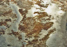 Rusty Tin Wall Background Royalty Free Stock Images