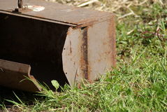 Rusty Toolbox in the grass Stock Image