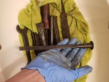 Rusty tools of stock photo