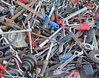 Rusty tools pile Royalty Free Stock Image