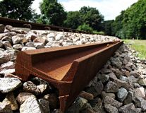 Rusty track Stock Image