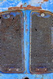 rusty tractor closeup Royalty Free Stock Photo