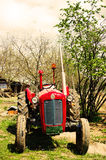 Rusty tractor in countryside Royalty Free Stock Photography