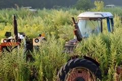 Rusty Tractor Graveyard fotografie stock libere da diritti