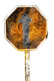 Rusty traffic sign Royalty Free Stock Photos