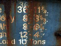 Rusty train. Rusty numbers royalty free stock image