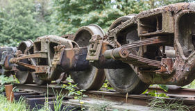 Rusty Train Bogeys Royalty Free Stock Photos