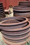 Rusty train parts Royalty Free Stock Photo