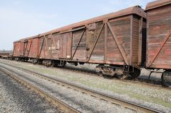 Rusty train wagons Stock Photography