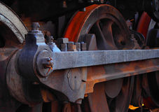 Train. Old rusty locomotive Stock Photography