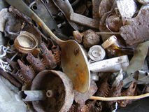 Rusty treasure. And rusty spoon Stock Photo