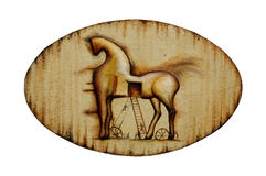 Rusty Trojan horse emblem (Isolated) Royalty Free Stock Photography