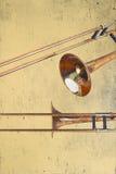 Rusty Trombones Royalty Free Stock Photos