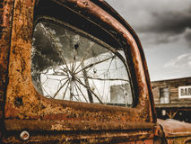 Rusty Truck And Bar retro foto de stock royalty free