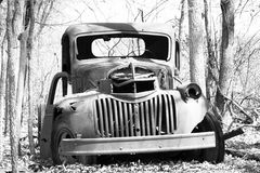 Rusty truck in woods Royalty Free Stock Photography