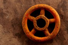 Rusty turn off knob Stock Photography