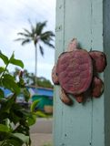 Rusty turtle in Kapaau Royalty Free Stock Photos