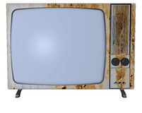 Rusty tv Royalty Free Stock Photo