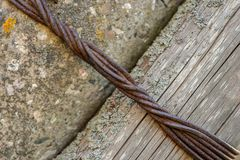 Twisted rusty wire stock images