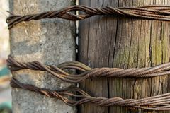Twisted rusty wire royalty free stock photos