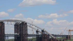Rusty Unfinished Bridge stock video