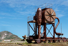 Rusty unknown functional unit Stock Image