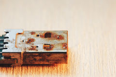 Rusty USB Flash Drive Connector Stock Images