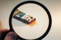 Rusty USB Flash Drive Connector Royalty Free Stock Images