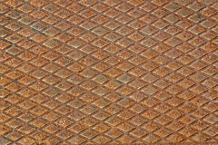 Rusty used metal diamond plate Royalty Free Stock Images