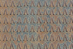 Rusty used metal diamond plate Stock Images