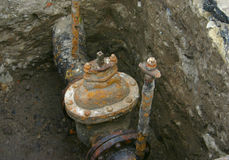 Rusty valve.  royalty free stock photos