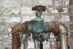 Rusty valve Royalty Free Stock Images