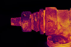 Rusty valve Stock Images