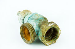 Rusty valve royalty free stock photo