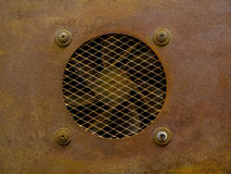 Rusty vent cover 1. Rusty ventilation cover with fence Stock Images