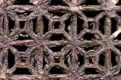 Rusty ventilation grill close up.  Royalty Free Stock Photo