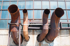 Rusty ventilation pipes Royalty Free Stock Image