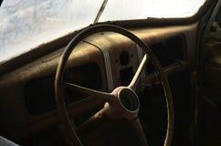 Rusty vintage automobile interior Royalty Free Stock Photos