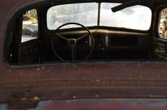 Rusty vintage automobile interior Stock Photo