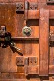 Rusty Vintage Bank Safe fotografie stock libere da diritti
