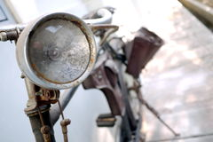 Rusty and Vintage Bicycle Lamp Royalty Free Stock Images