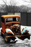 Rusty Vintage Car. Of an epoch of 1940s Stock Photo