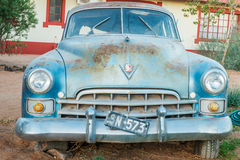 Rusty vintage car in Namibia Royalty Free Stock Image