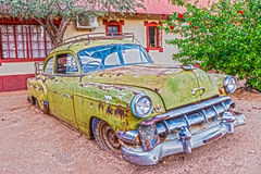 Rusty vintage car in Namibia Stock Photo